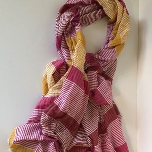 Old Navy Fashion Scarf OS pink yellow white